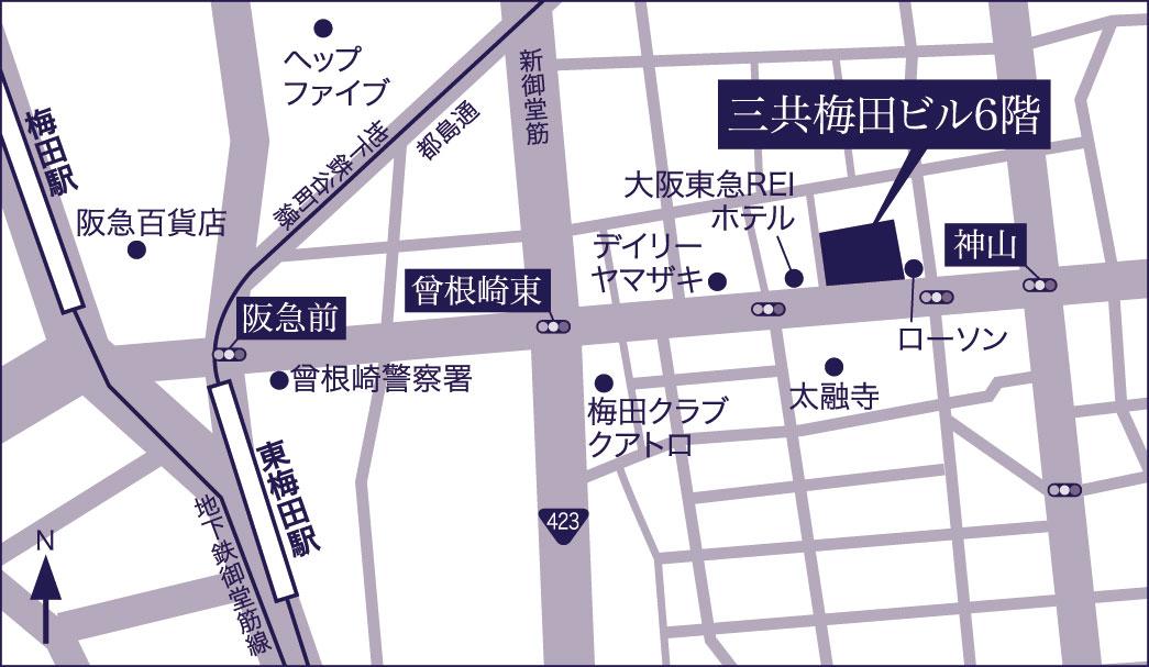 三共梅田ビル地図